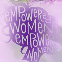 empowering woman silhouette